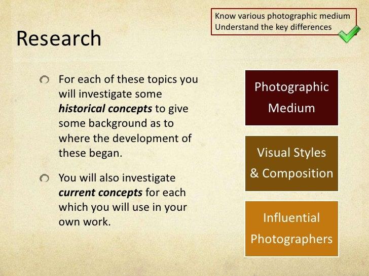 Lesson 1 Photographic Medium