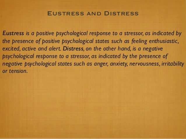 Physiological (Bodily) Responses to Stress 2.#General#Adapta.on#Syndrome# • Cannon's'belief'that'prolonged'stress'is'harm...