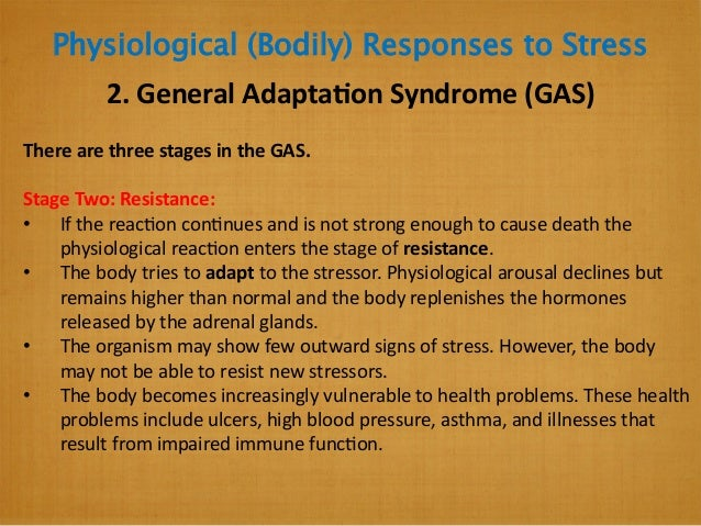 Lesson 1   physiological and psychological charactertistics of responses to stress