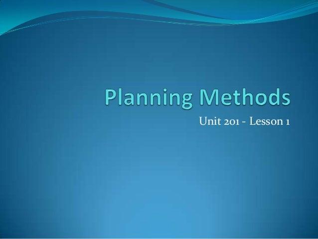 Unit 201 - Lesson 1