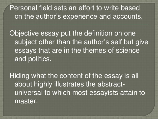 abstract/universal essay definition This page explains what argumentative essay is, how it is organized, special techniques, language and a sample essay.
