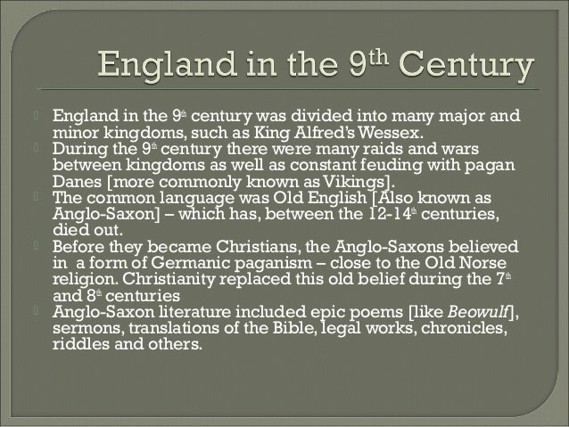 Lesson 1 - The Structure Of Anglo-Saxon England