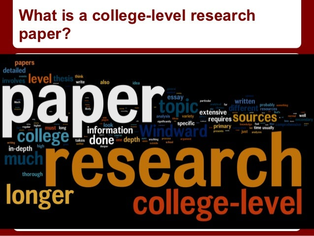 college level research paper topics