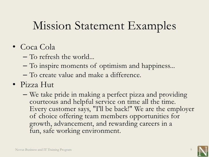 Mission Statement Example Idealstalist