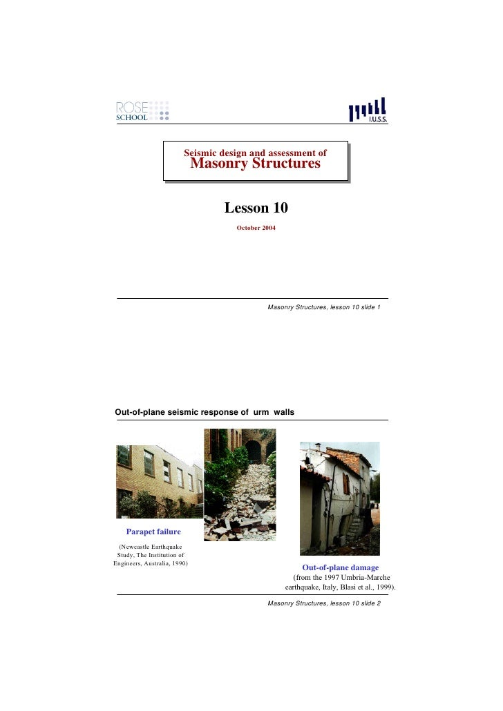 Seismic design and assessment of                          Seismic design and assessment of                               M...