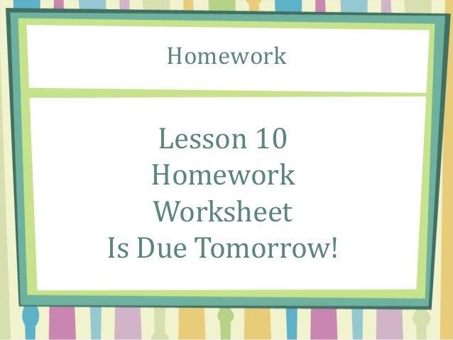 Module 5 Lesson 10