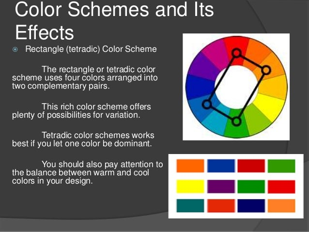 Color Schemes And Its Effects Rectangle