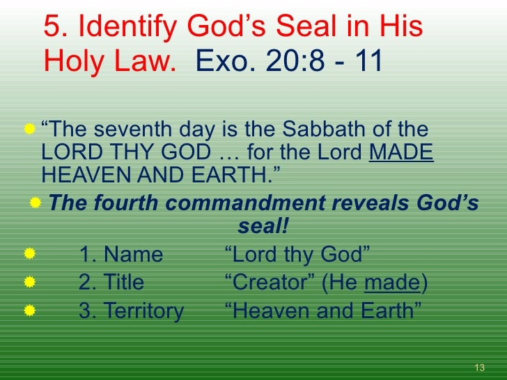 Image result for adventist fourth commandment seal