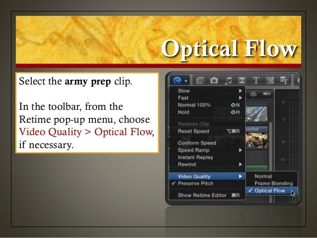 Optical Flow Final Cut Pro