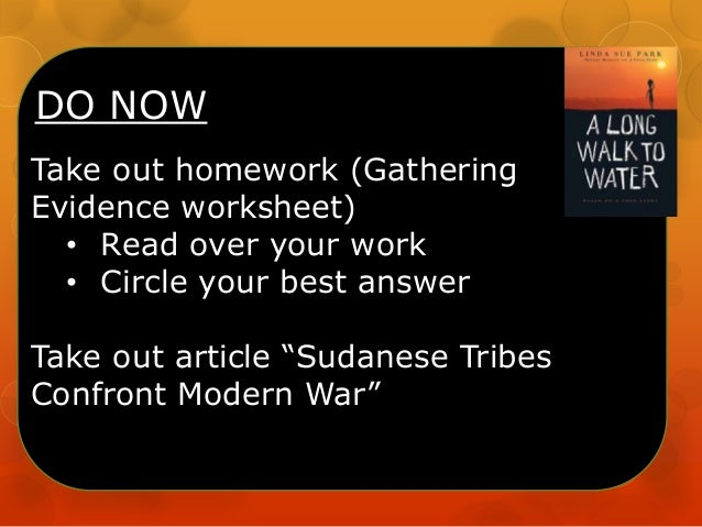 """DO NOW Take out homework (Gathering Evidence worksheet) • Read over your work • Circle your best answer Take out article """"..."""