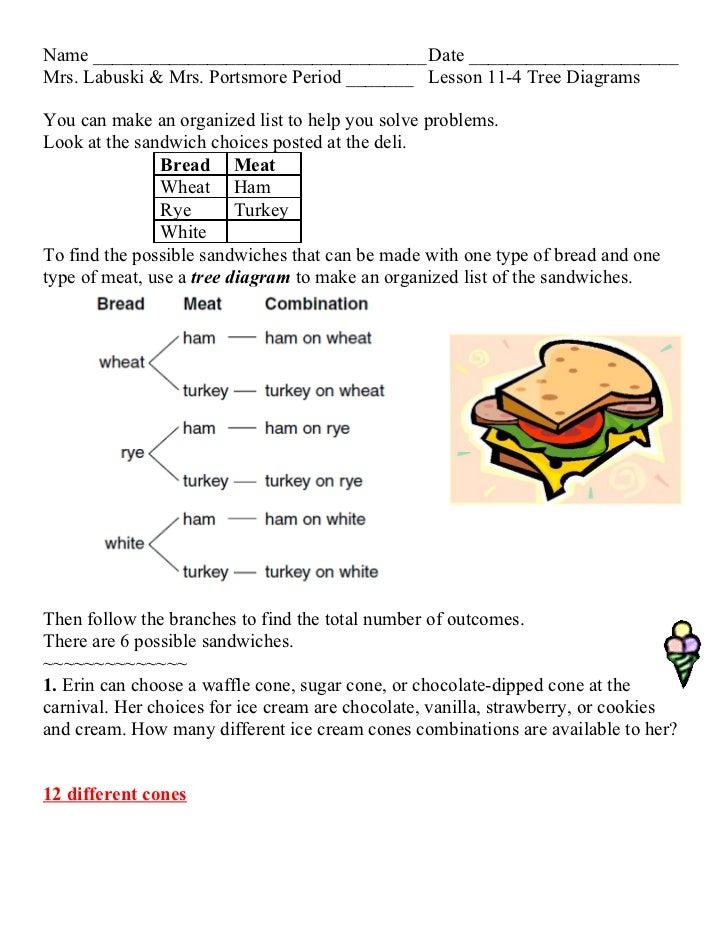 Lesson 11 4 Tree Diagrams