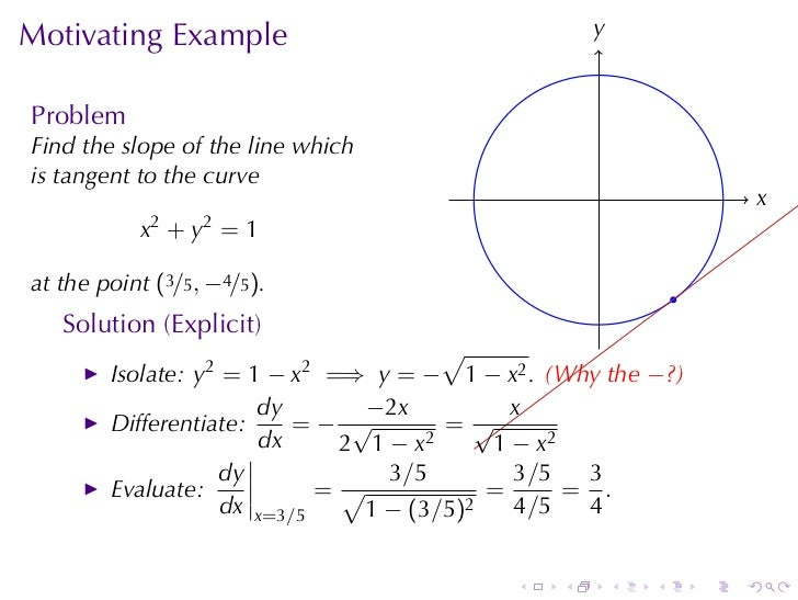 implicit differentiation examples and solutions pdf
