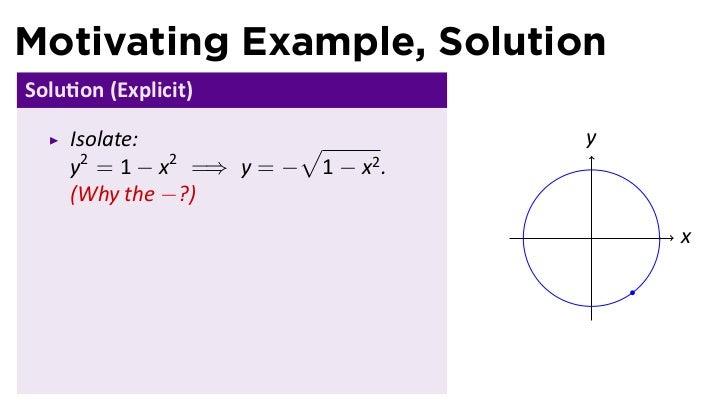 Lesson 11 Implicit Differentiation Slides