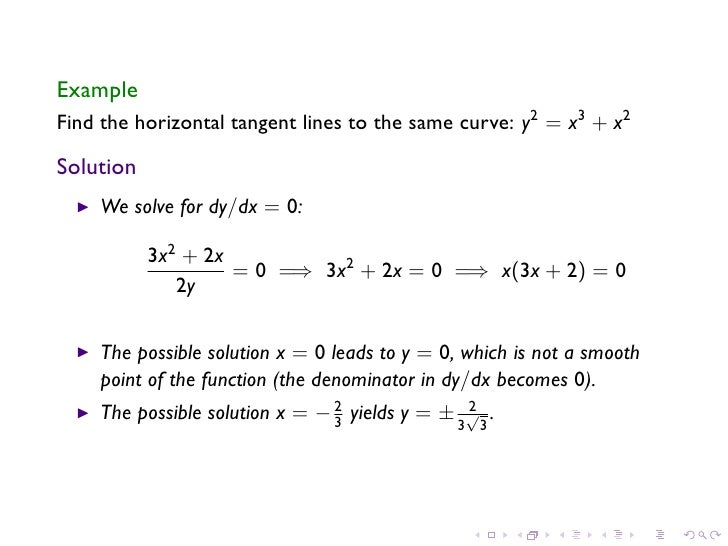 Lesson 12 Implicit Differentiation