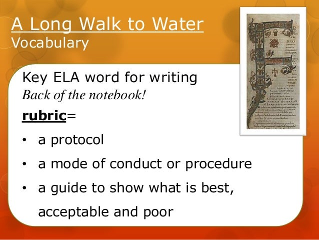 model essay a long walk to What factors made survival possible for salva in a long walk to water a long walk to water final writing assessment your essay will consist of four organized.