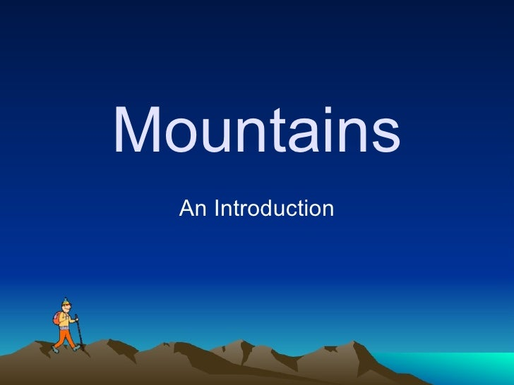 Mountains An Introduction