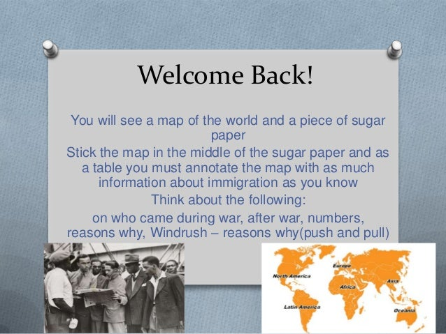 Welcome Back!You will see a map of the world and a piece of sugarpaperStick the map in the middle of the sugar paper and a...