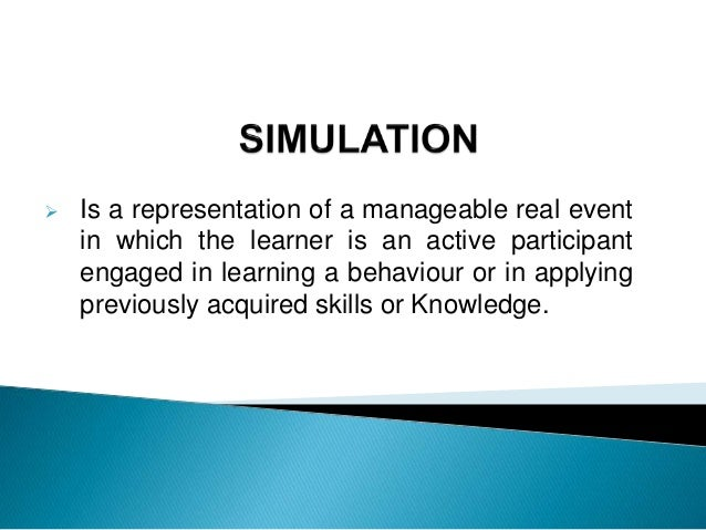  Is there a difference between a game and a simulation.  Games are played to win while simulation used to have a winner ...