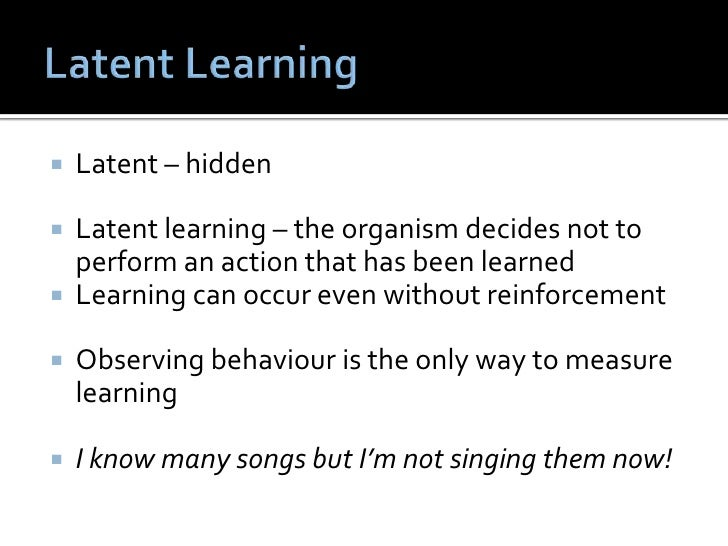 Lesson 13 insight and latent learning