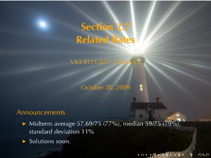 Section2.7                      RelatedRates                   V63.0121.027, CalculusI                          October...