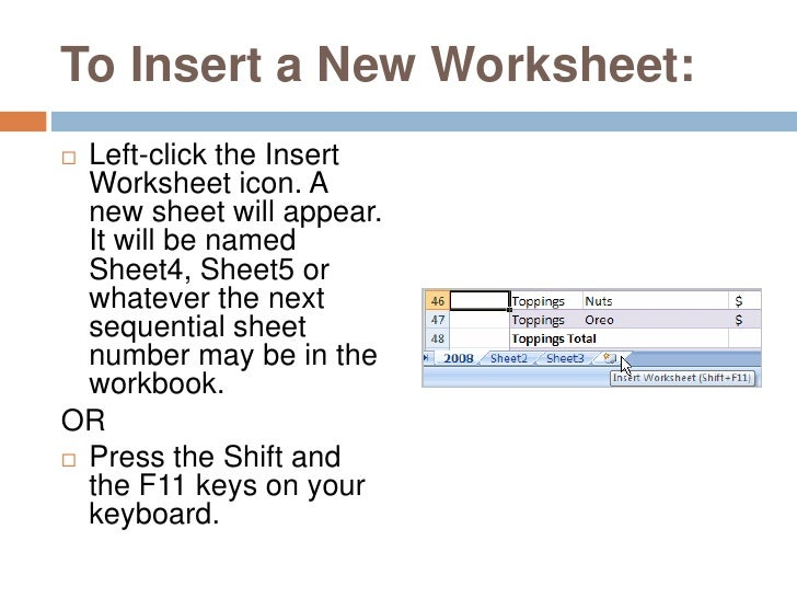 Working with Worksheets in Excel 2016 – WizApps