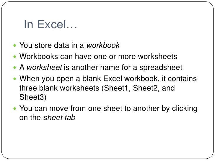 Excel Lesson 14