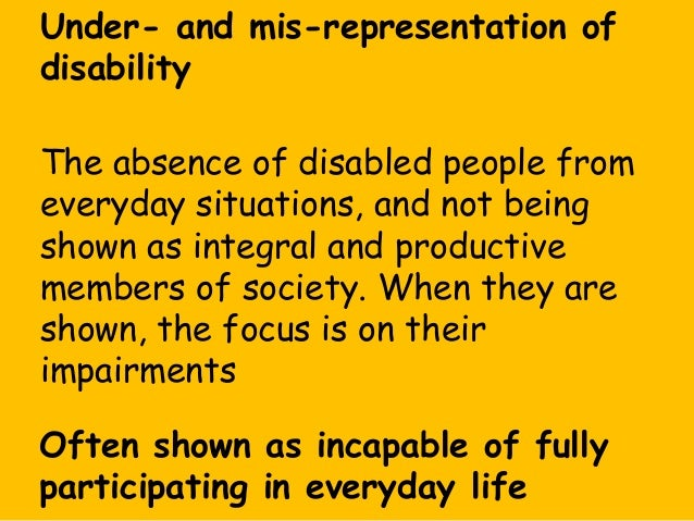 the disability representation in the media Introduction to media and its relationship with disability this website has been developed to look at the media's relationship with disability.