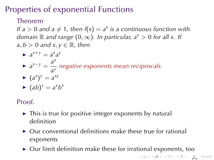 Lesson 14: Exponential Functions