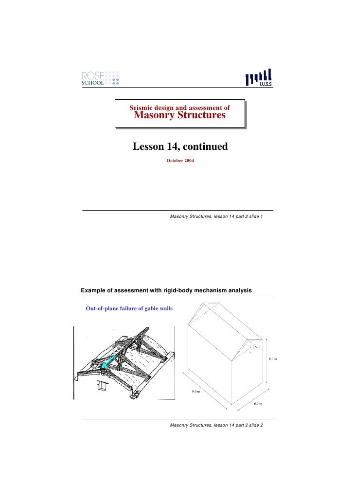 Seismic design and assessment of                   Seismic design and assessment of                     Masonry Structures...