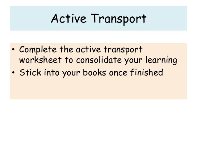 Lesson 15 activetransport – Active Transport Worksheet