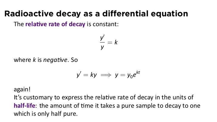 Lesson 15: Exponential Growth and Decay (slides)