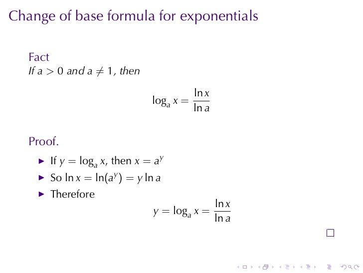 Lesson 15 inverse functions and logarithms 31 change of base formula sciox Choice Image