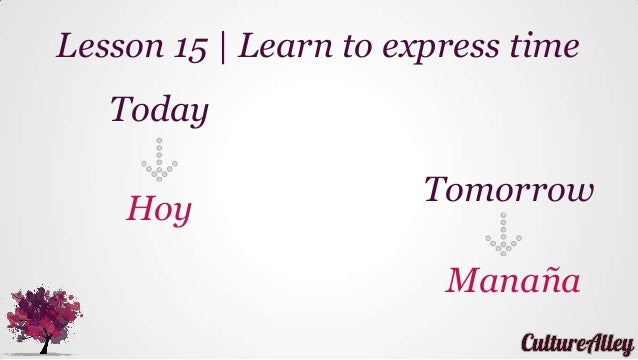 basic lesson 15 learn to express time today