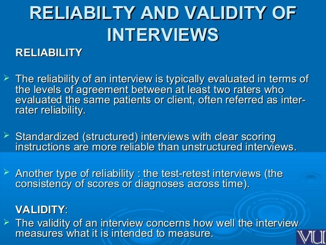 reliability in interviews