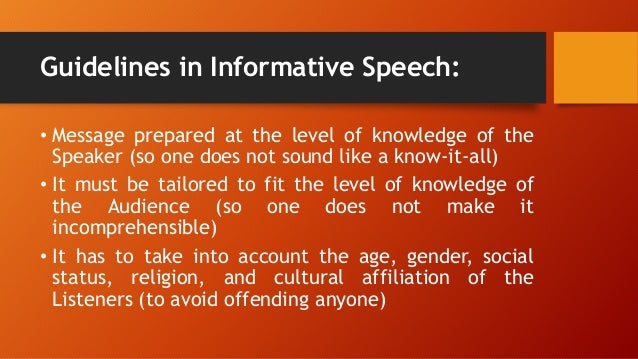ebola informative speech 07112017 how to write an informative speech an informative speech explains something you're interested in or describes how to do something here are a few guidelines on how to write an informative speech.