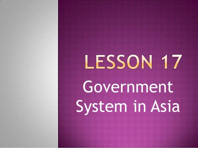 Government System in Asia
