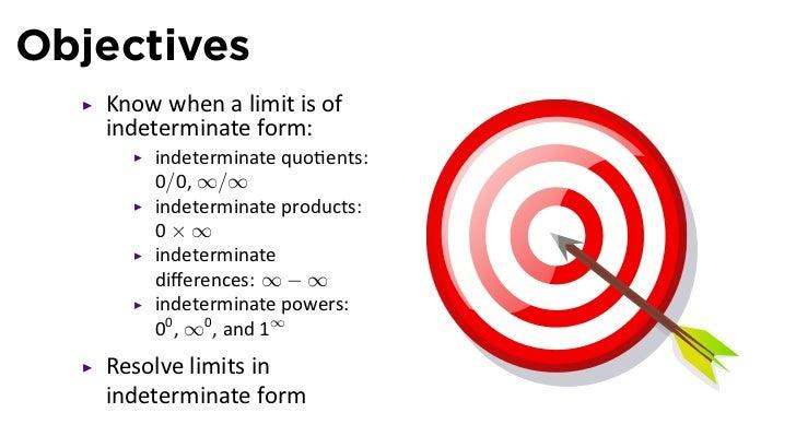 Lesson 17: Indeterminate forms and l'Hôpital's Rule (slides)