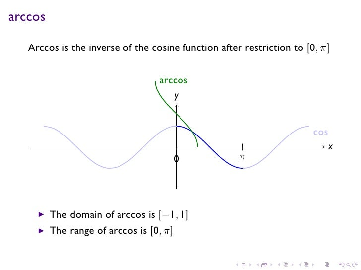 domain and range of inverse trigonometric functions pdf