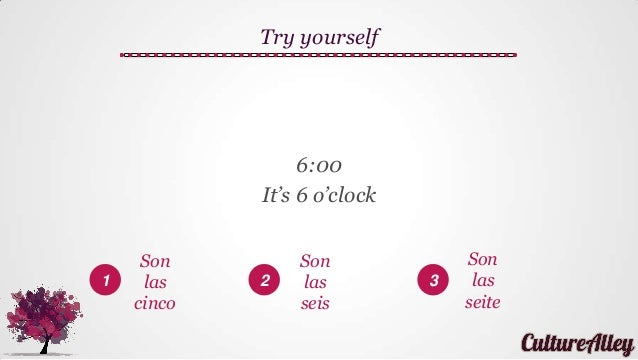 Basic spanish lesson 17 asking and telling time in spanish 34 solutioingenieria Images