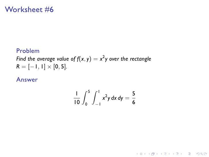 lesson18 double integrals over rectangles slides. Black Bedroom Furniture Sets. Home Design Ideas