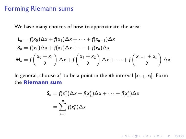 Lesson18 Double Integrals Over Rectangles Slides – Riemann Sum Worksheet