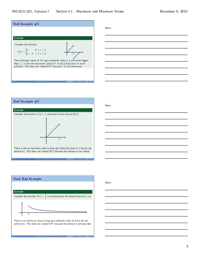 lesson 18 maximum and minimum values section 021 handout. Black Bedroom Furniture Sets. Home Design Ideas