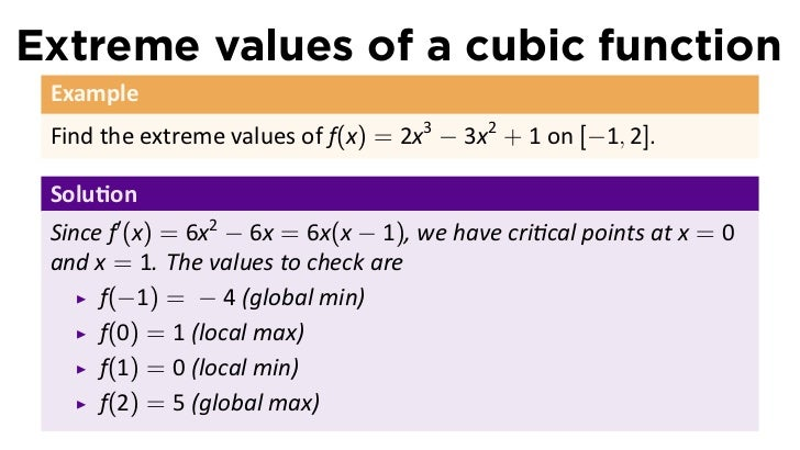 the value of determine a minimum The largest of these values is the absolute maximum and the smallest is the absolute minimum example: find the absolute extrema of f(xy) = 2+2x+2y x 2 y 2 on the closed triangular.