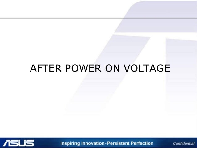 AFTER POWER ON VOLTAGE