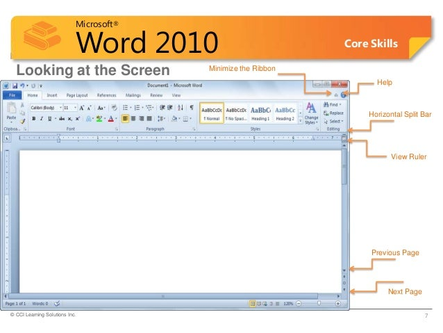 ms word lesson