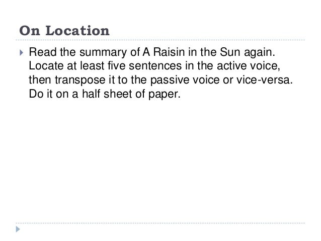 the plot of a raisin in the sun
