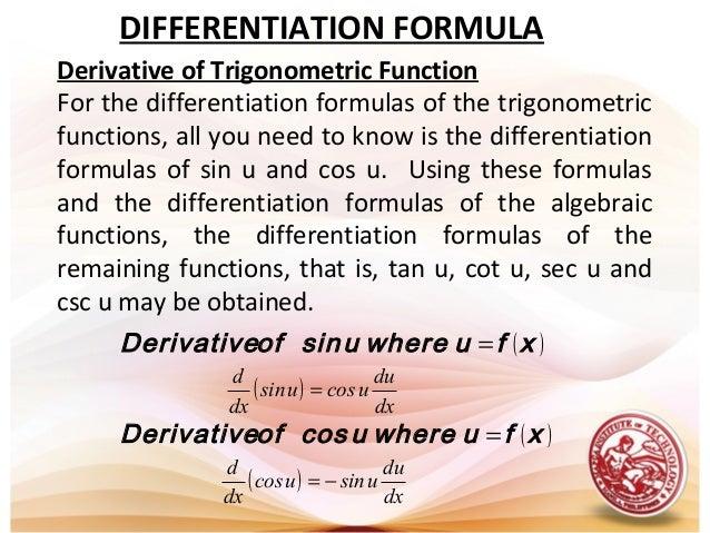 Lesson 1 derivative of trigonometric functions