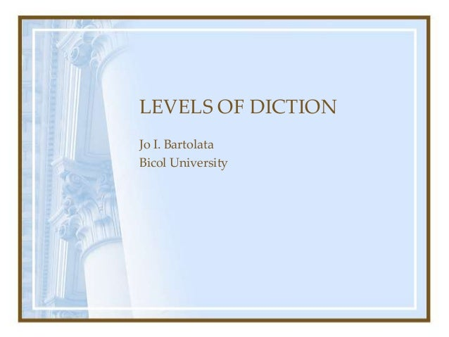 """use of diction in if i Should i use """"i"""" what this handout is about this the purpose of writing in the humanities is generally to offer your own analysis of language."""