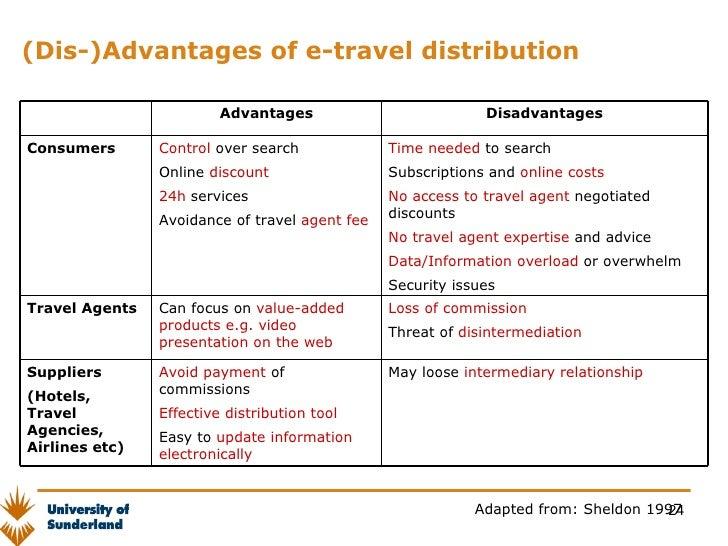 travel agent advantages and disadvantages