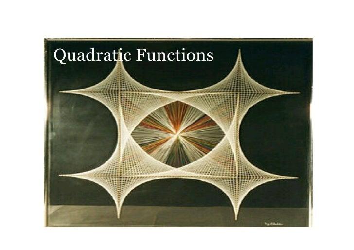 QuadraticFunctions